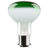 BC (B22) R80 Green Reflector Light Bulbs