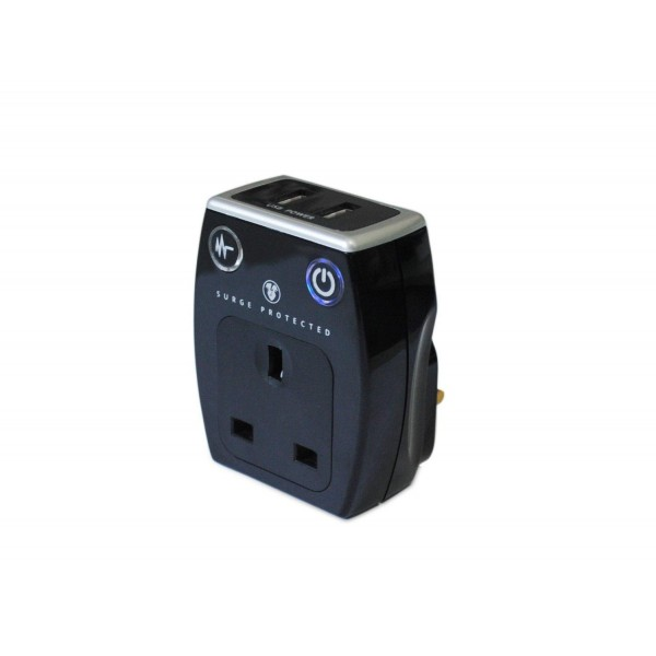 Surge Protector USB Charger in Black or White